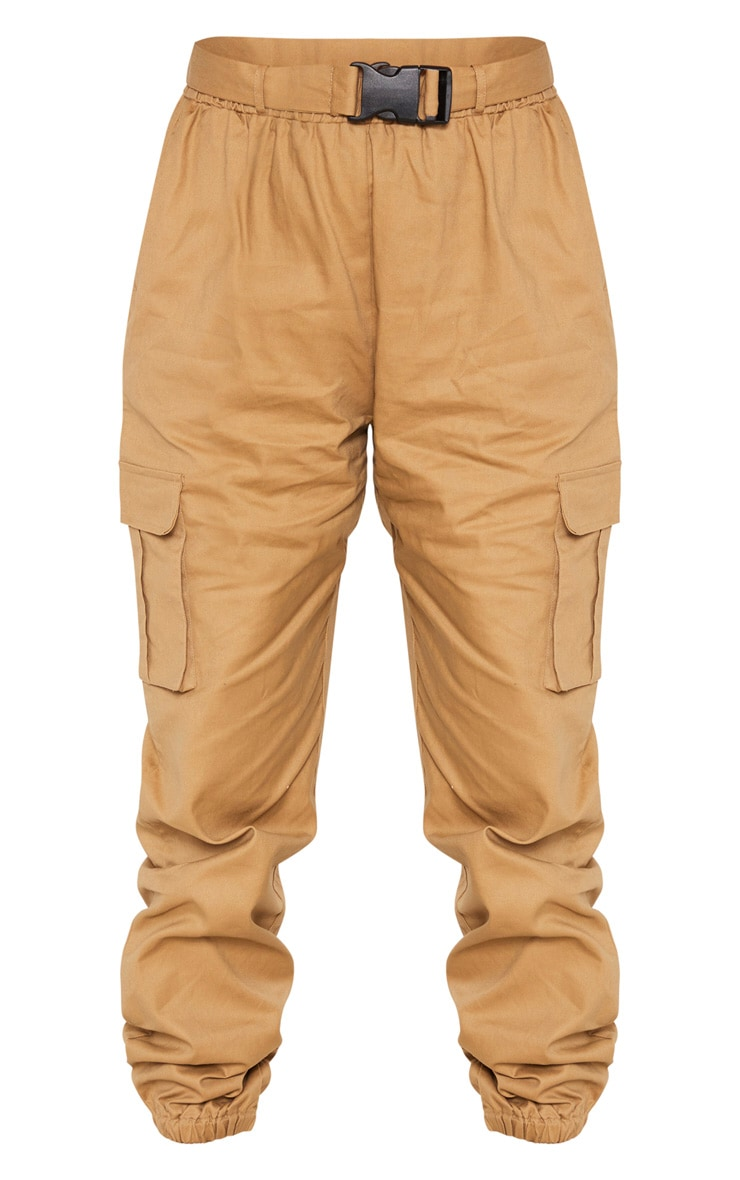Taupe Utility Buckle Belt Joggers 3