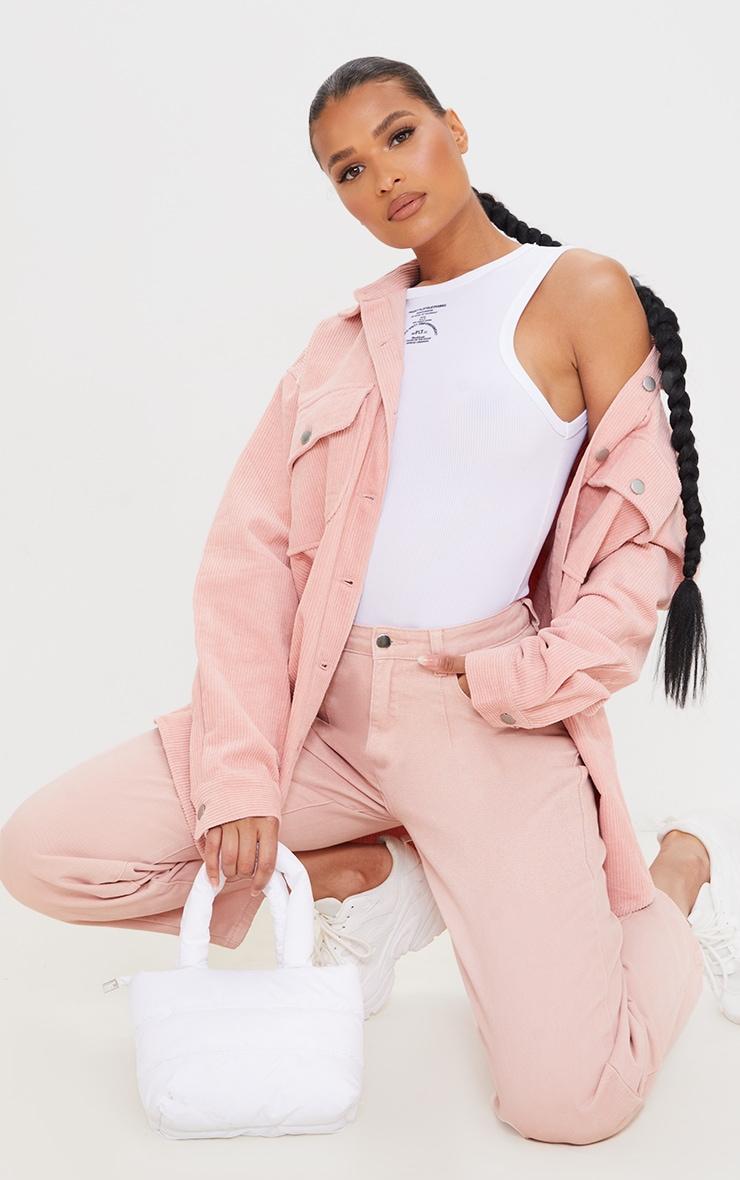 Pink Oversized Cord Shacket 1