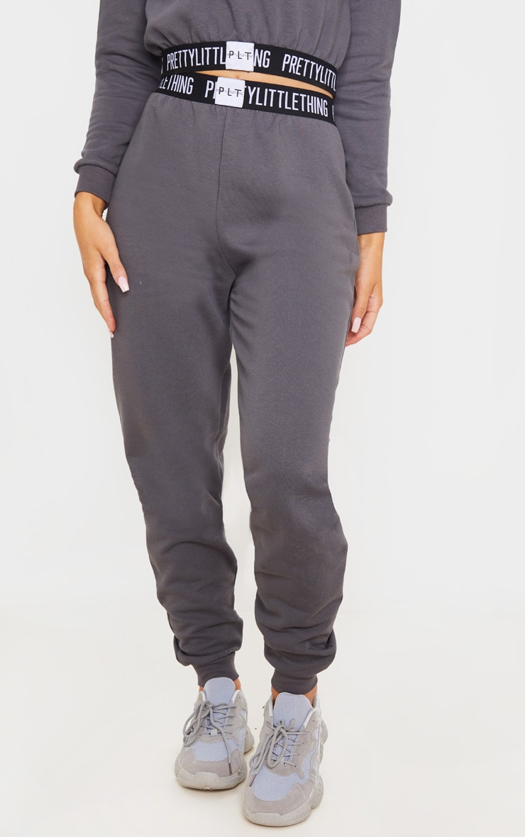 PRETTYLITTLETHING Charcoal Grey Lounge Jogger 2