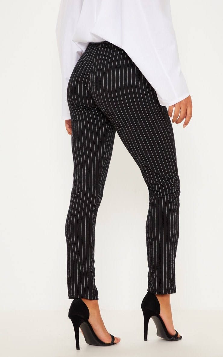 Pantalon à rayures noir 4