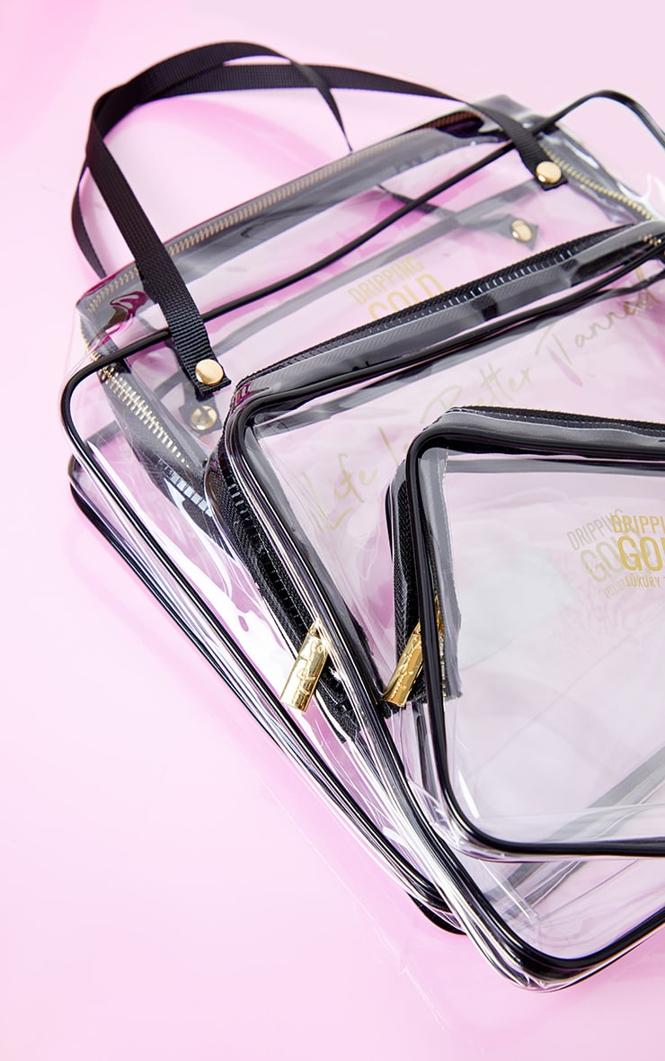 SOSU Dripping Gold Summer Travel Bags Set of 3 4