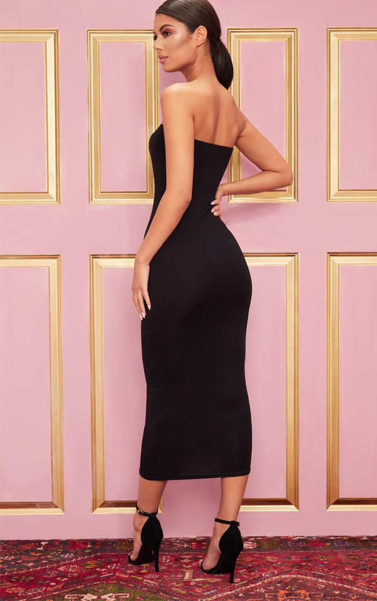 Basic Black Bandeau Midaxi Dress 3