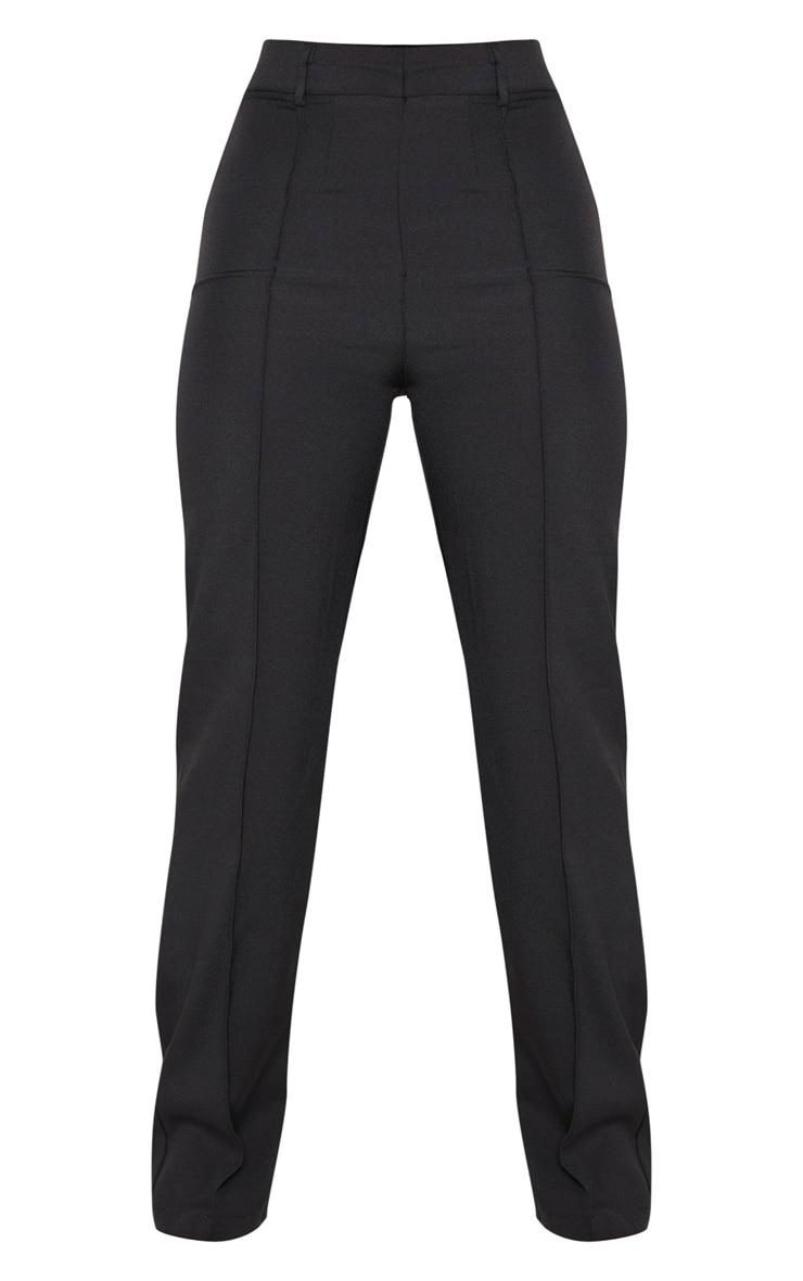 Petite Black High Waist Straight Leg Pants  3