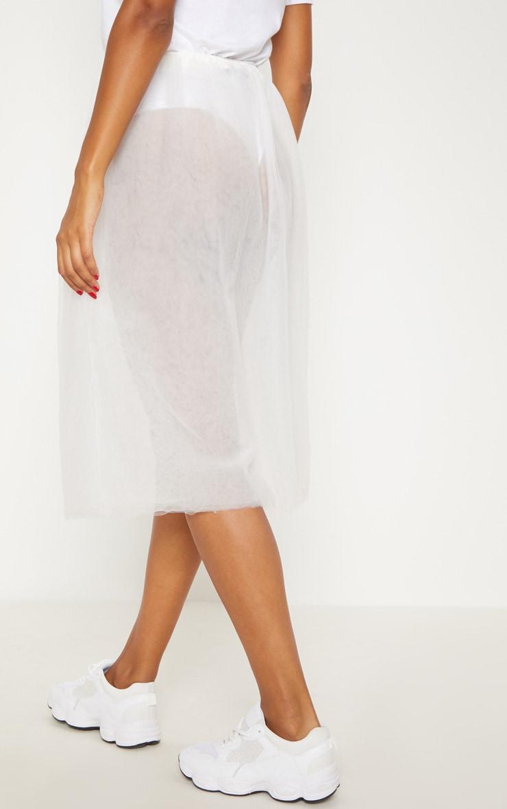 White Sheer Tulle Skirt 4