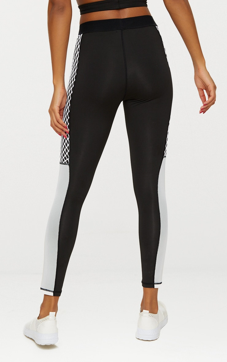 Black Contrast Sports Leggings 5