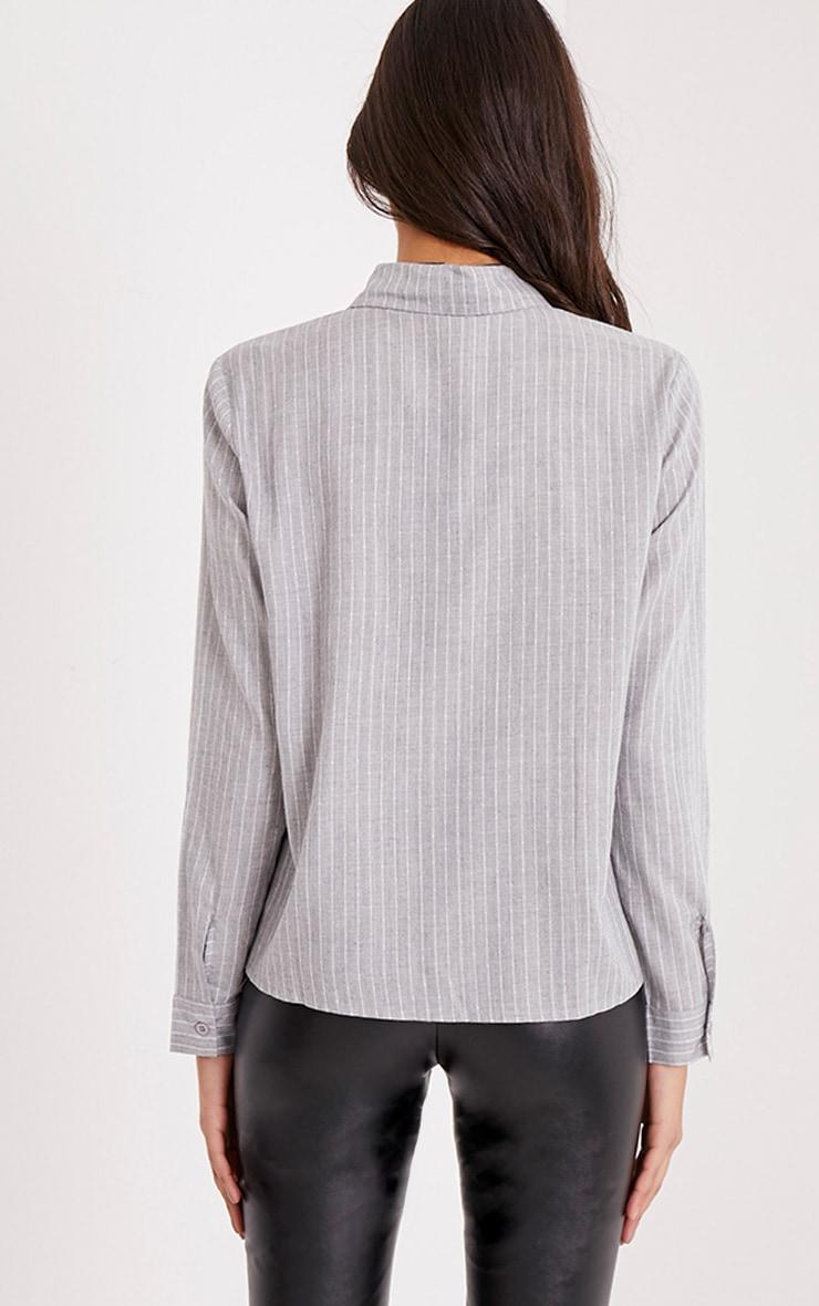 Bethany Grey Soft Stripe Shirt 2