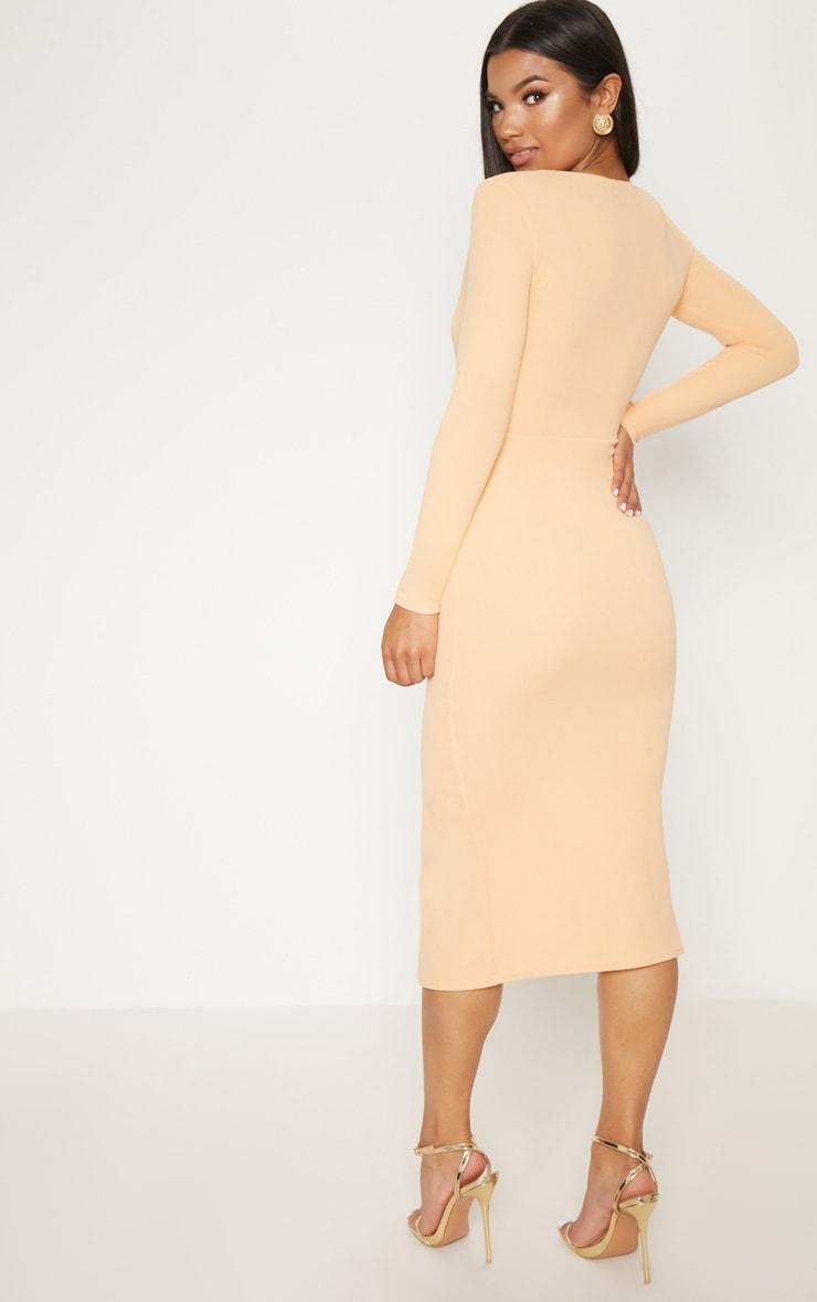 Tangerine Frill Midi Dress 2