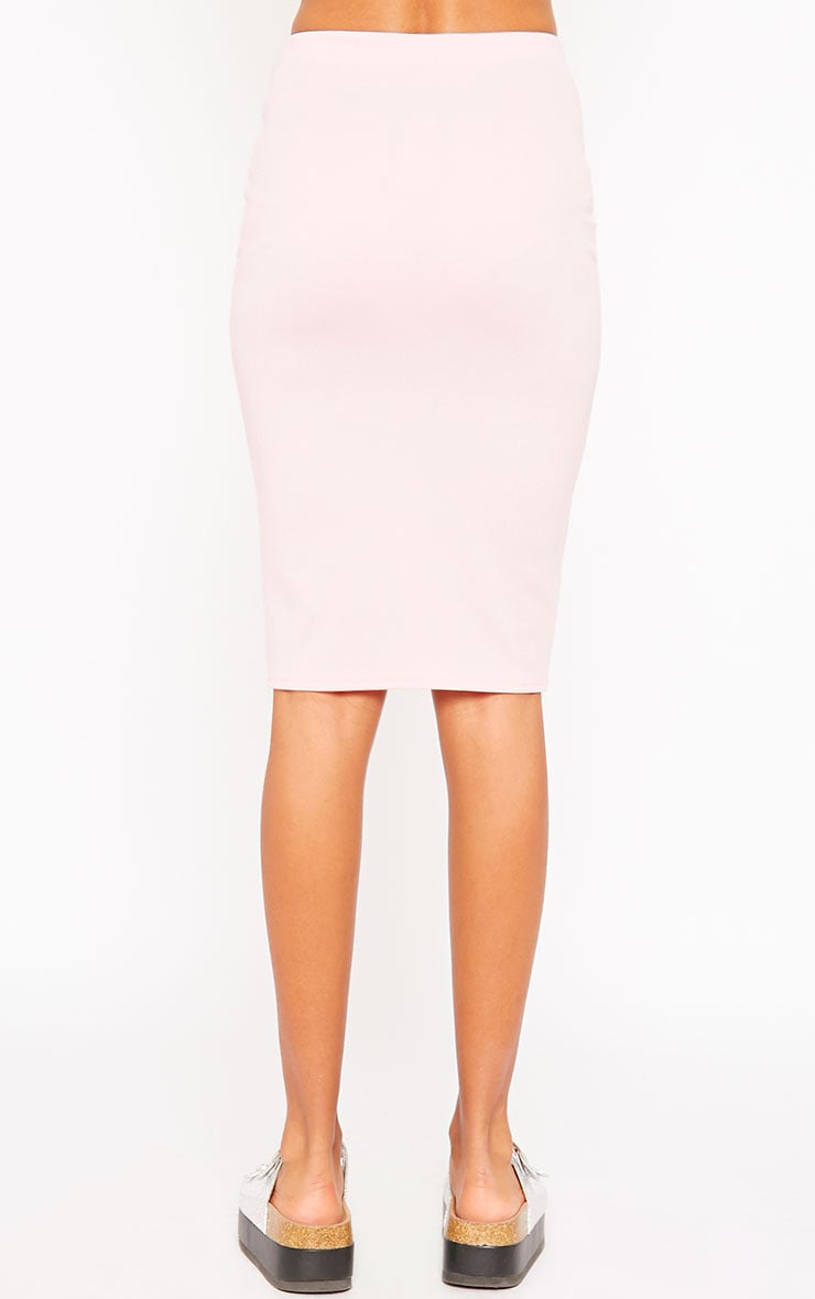 Winnie Baby Pink Scuba Midi Skirt 4