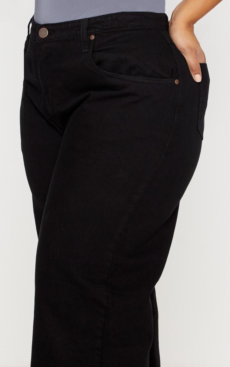 Plus Black Extreme Wide Leg Jean 5