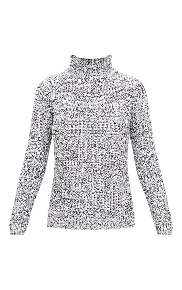 Grey Roll Neck Step Hem Jumper 3