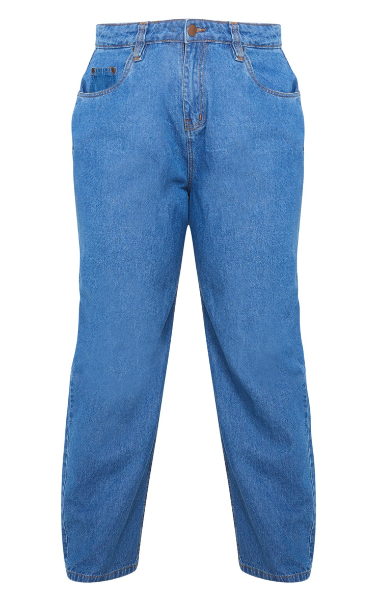 Plus Mid Wash Slim Mom Jean 3