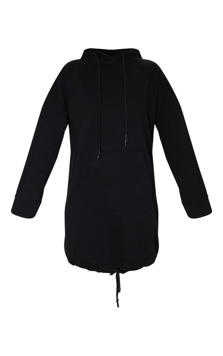 Black Pocket Detail Oversized Long Sleeve Jumper Dress 3