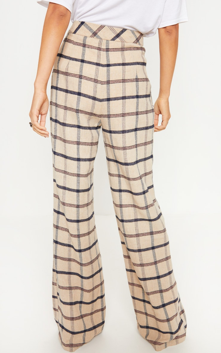 Stone Check Wide Leg Pants 4
