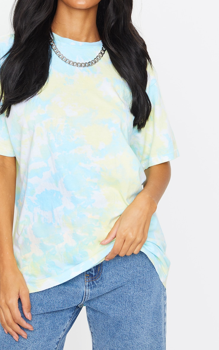 Multi Printed Tie Dye Boyfriend Fit T Shirt 4