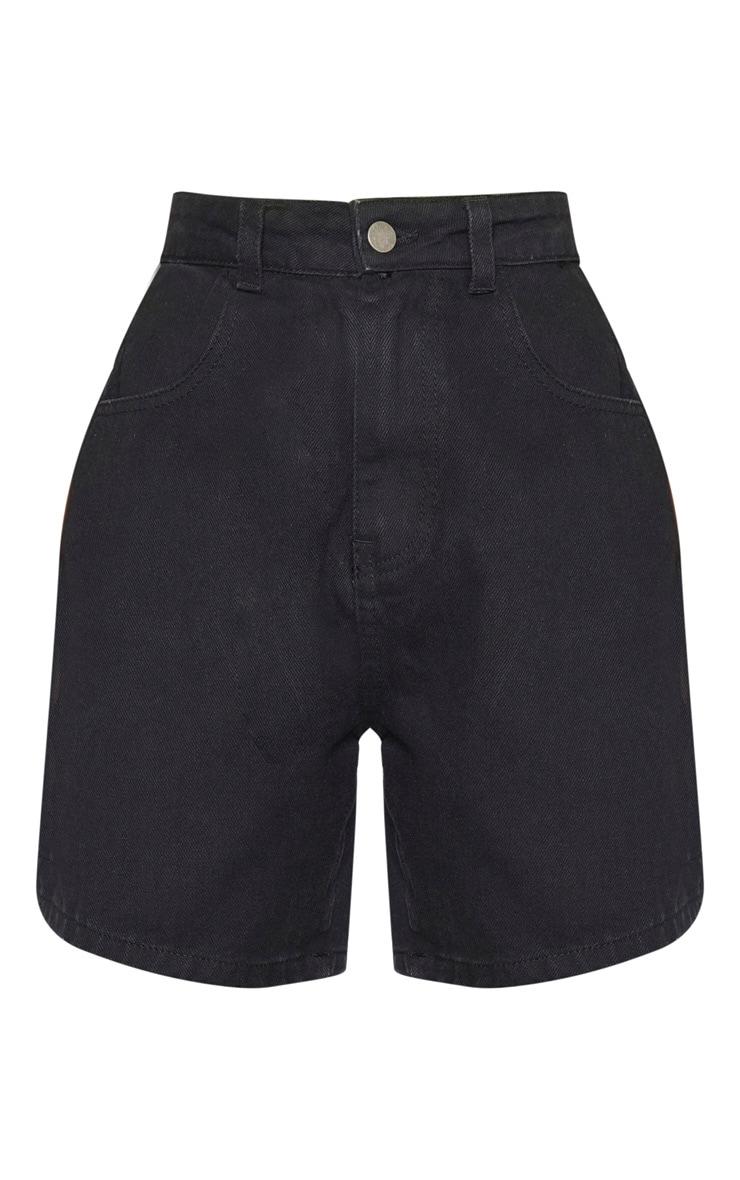 Petite Black Mom Denim Shorts  3