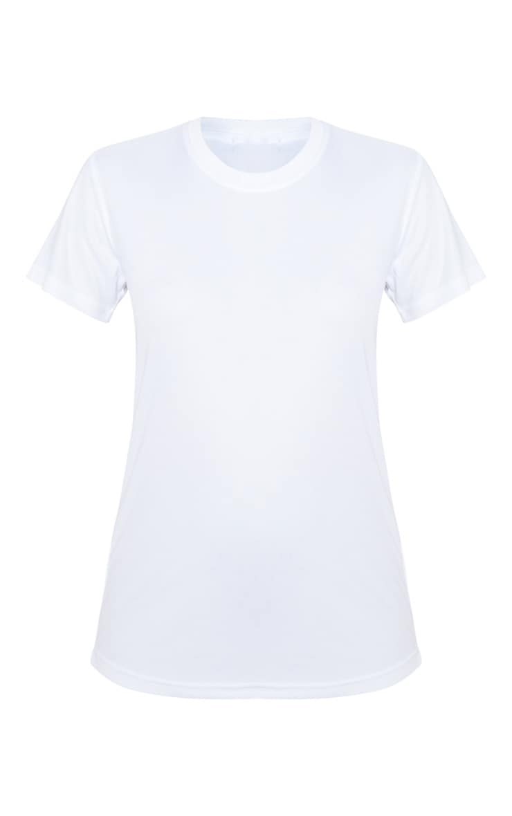 White Basic Sports T-shirt 3
