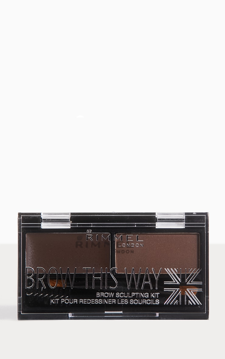 Rimmel Brow This Way Dark Brown Eyebrow Kit 1