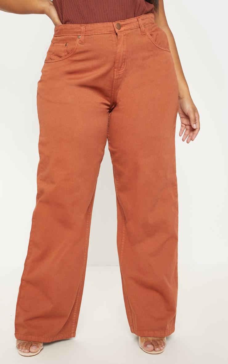 Plus Rust Extreme Wide Leg Jean 2