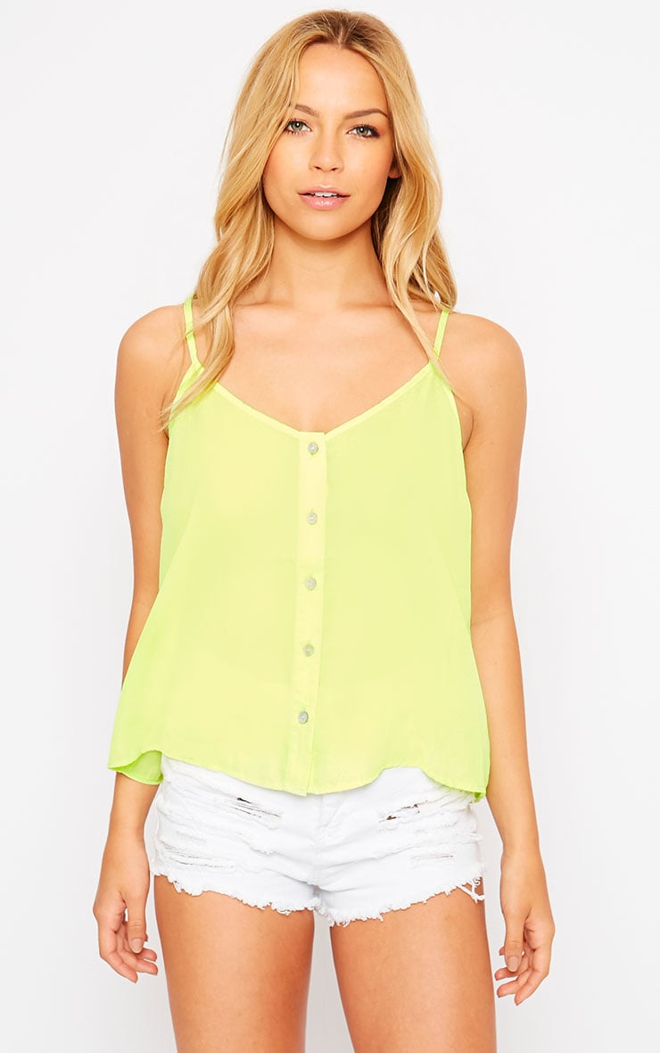 Mara Lime Button Up Cami 1
