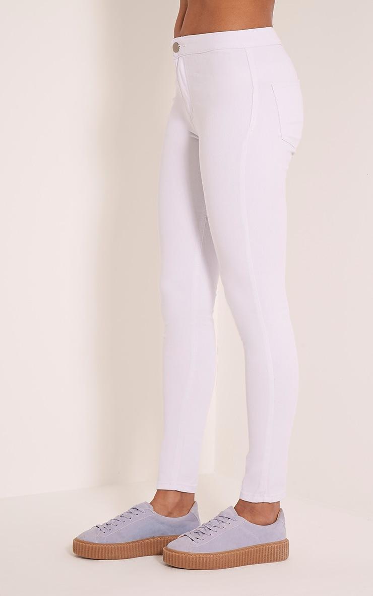 Kylie jean skinny taille mi-haute blanc 4