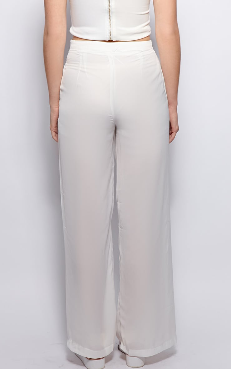 Natasha White Side Split Trousers 2
