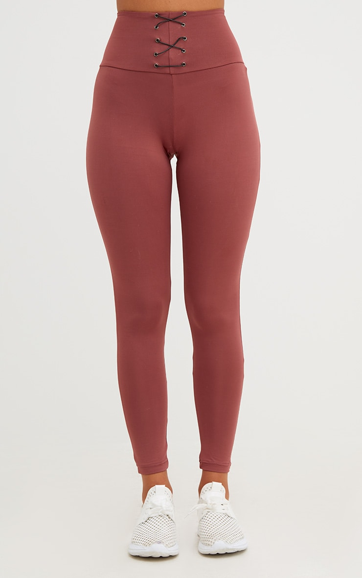 Rose Corset Detail Leggings 2