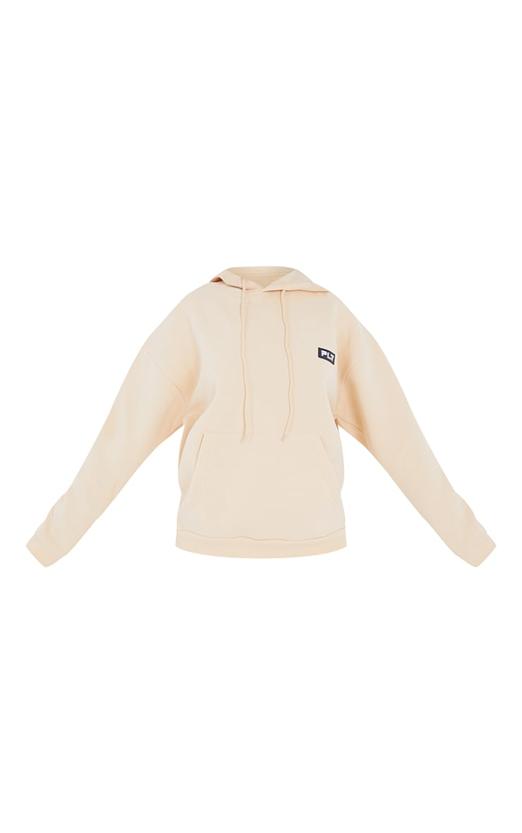 PRETTYLITTLETHING Petite Camel Badge Detail Oversized Hoodie 5