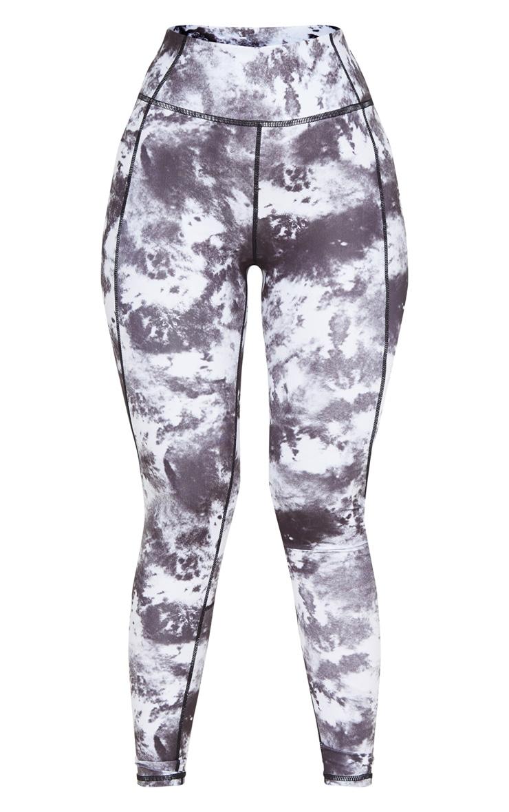 Black Tie Dye Acid High Rise Gym Legging 3