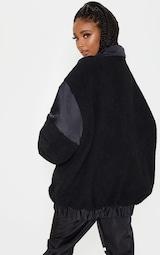 Black Borg Contrast Pocket Front Coat 2