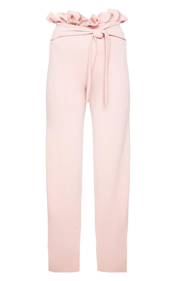 Blush Crepe Paperbag Wide Leg Pants 3