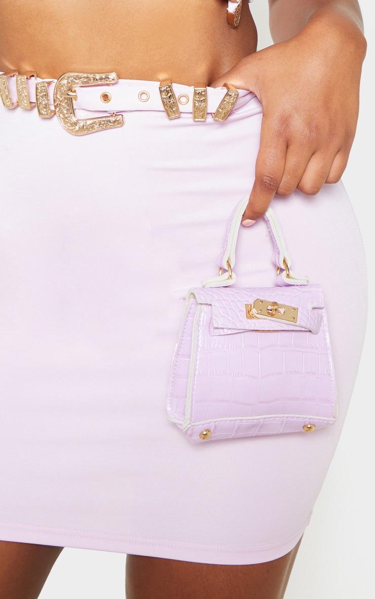 Lilac Croc Micro Mini Bag     1