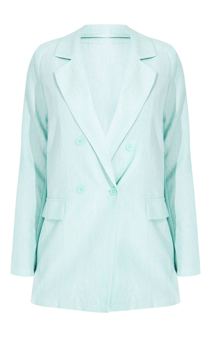 Tall Mint Oversized Boyfriend Blazer 5
