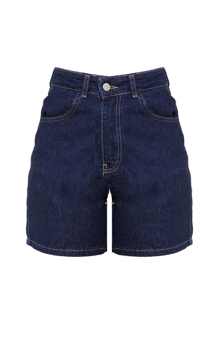 Petite Blue Indigo Mom Denim Shorts 6