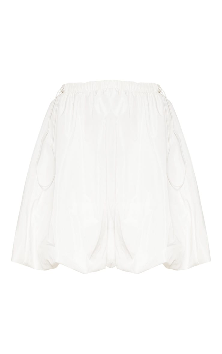White Shell Toggle Side Detail Mini Skirt 4