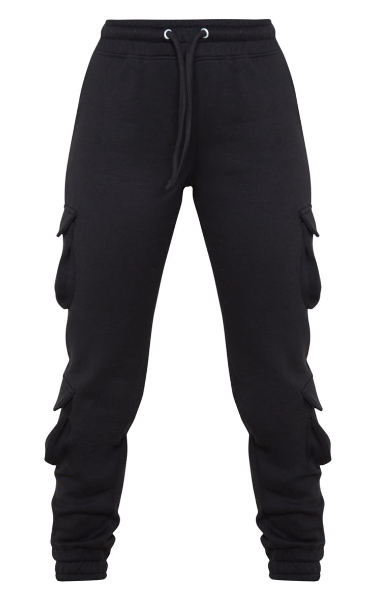 Black Pocket Detail Joggers 3