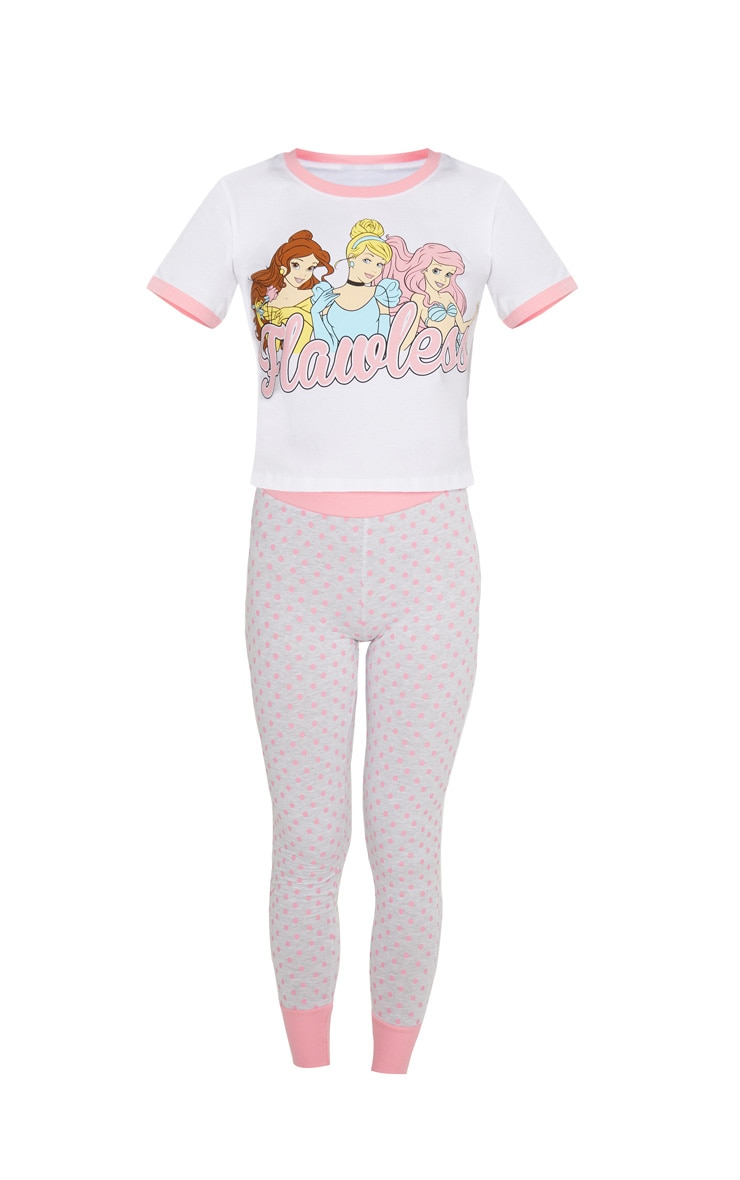 White DISNEY Princess Flawless Legging Pyjama Set  3