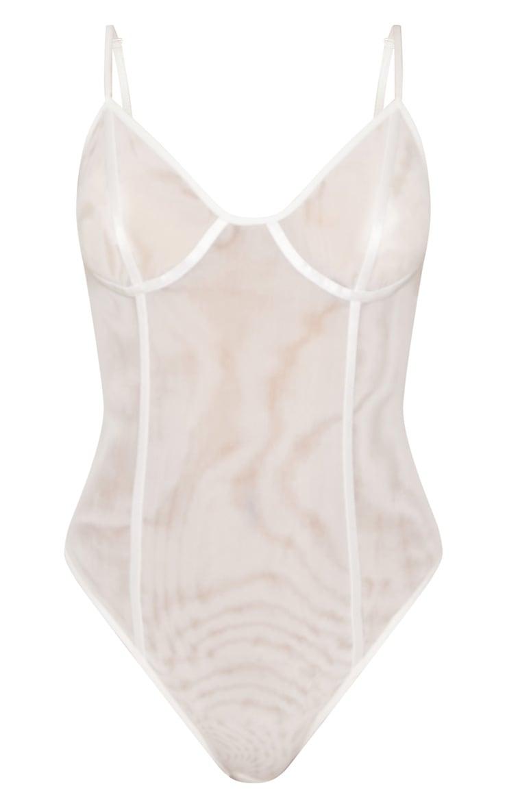 White Mesh Sheer Body 3