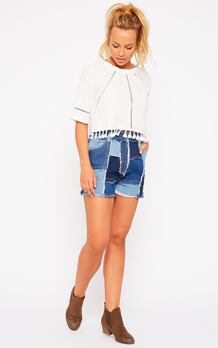Maliya Patchwork Denim Shorts 5