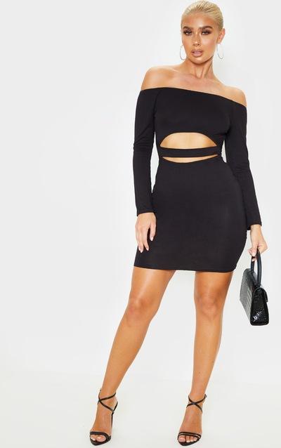 Cut Out Dresses Side Cut Dress Prettylittlething Aus