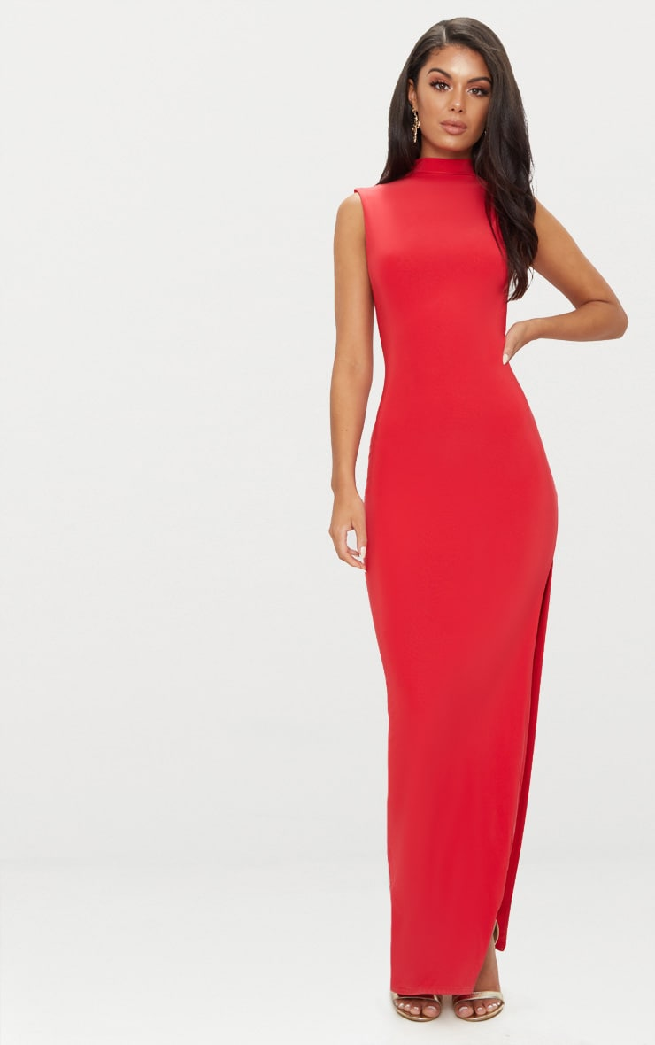 Red Slinky Cut Out Back Maxi Dress Pretty Little Thing ZtKUH