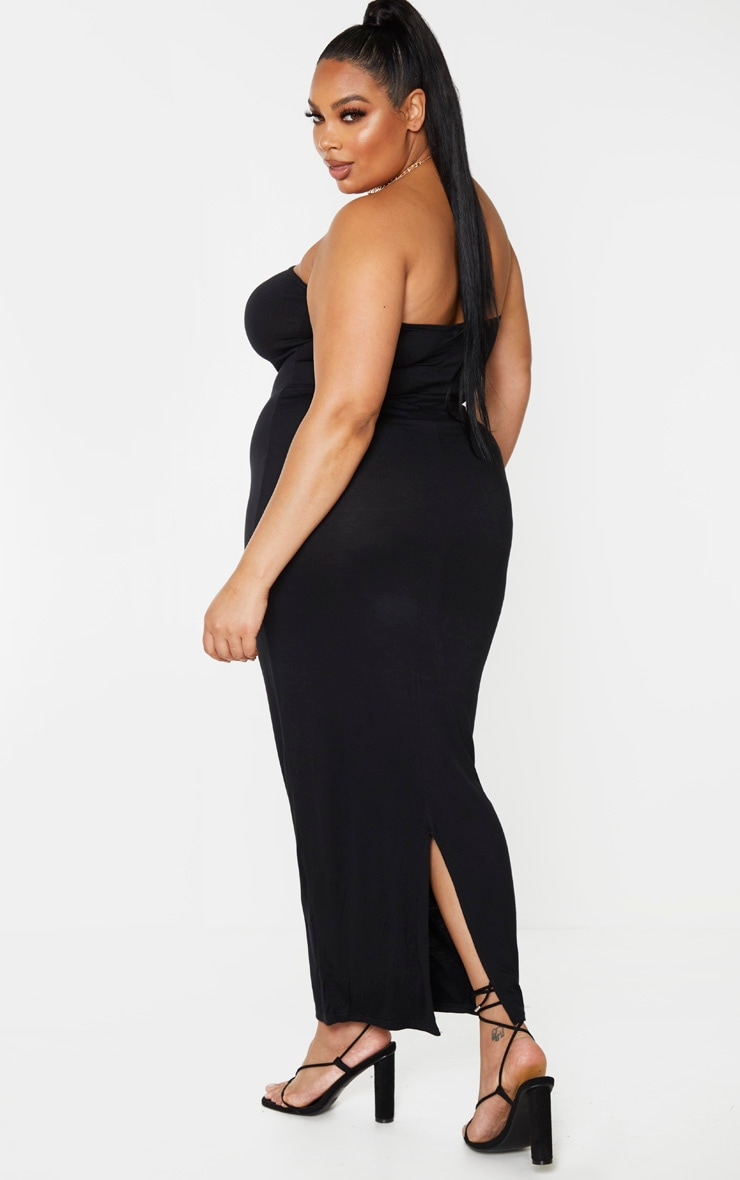 Plus Black Bandeau Maxi Dress 2