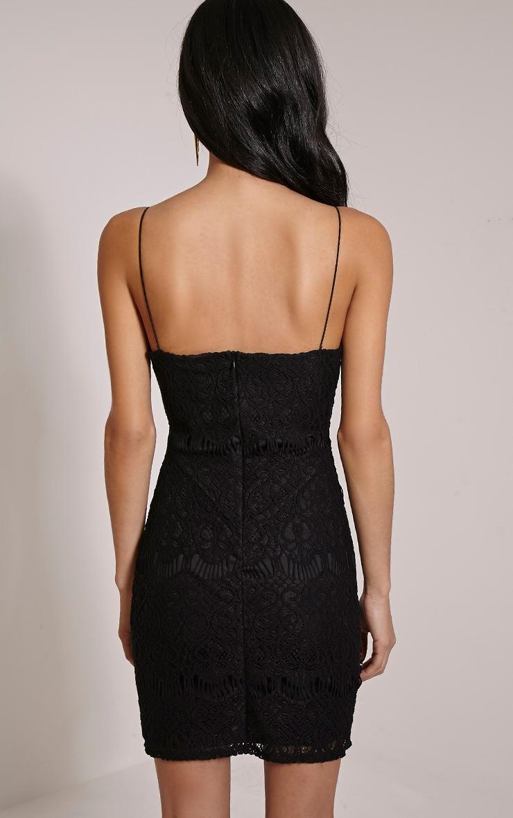 Kadie Black Eyelash Mini Dress 2