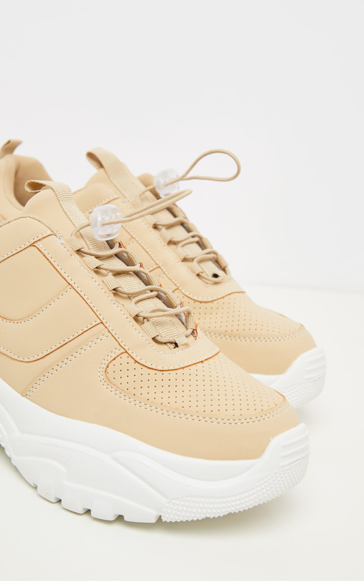 Sand High Arch Chunky Sole Trainer 2