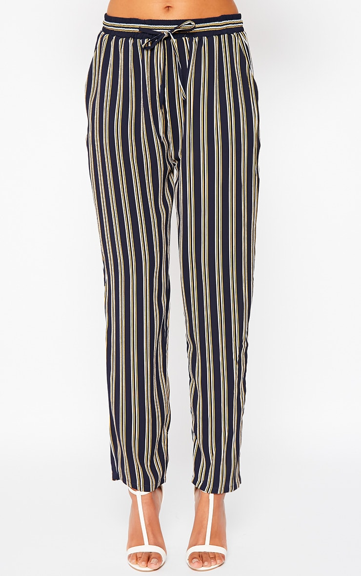 Kali Navy Stripe Trousers 2