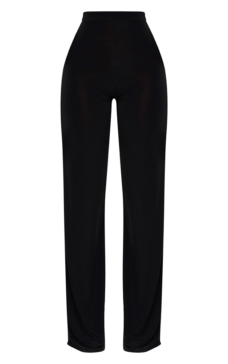Shape Black Slinky Wide Leg Pants 3