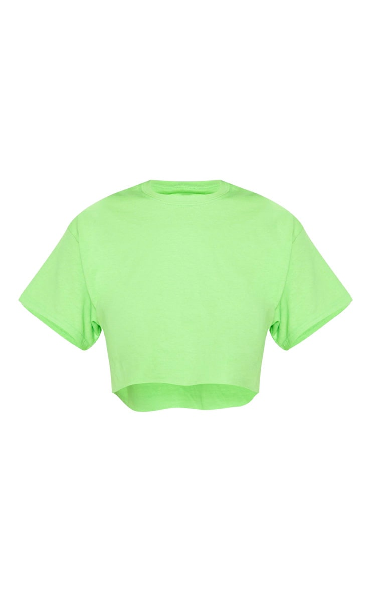 Lime Ultimate Oversized Crop T Shirt 3