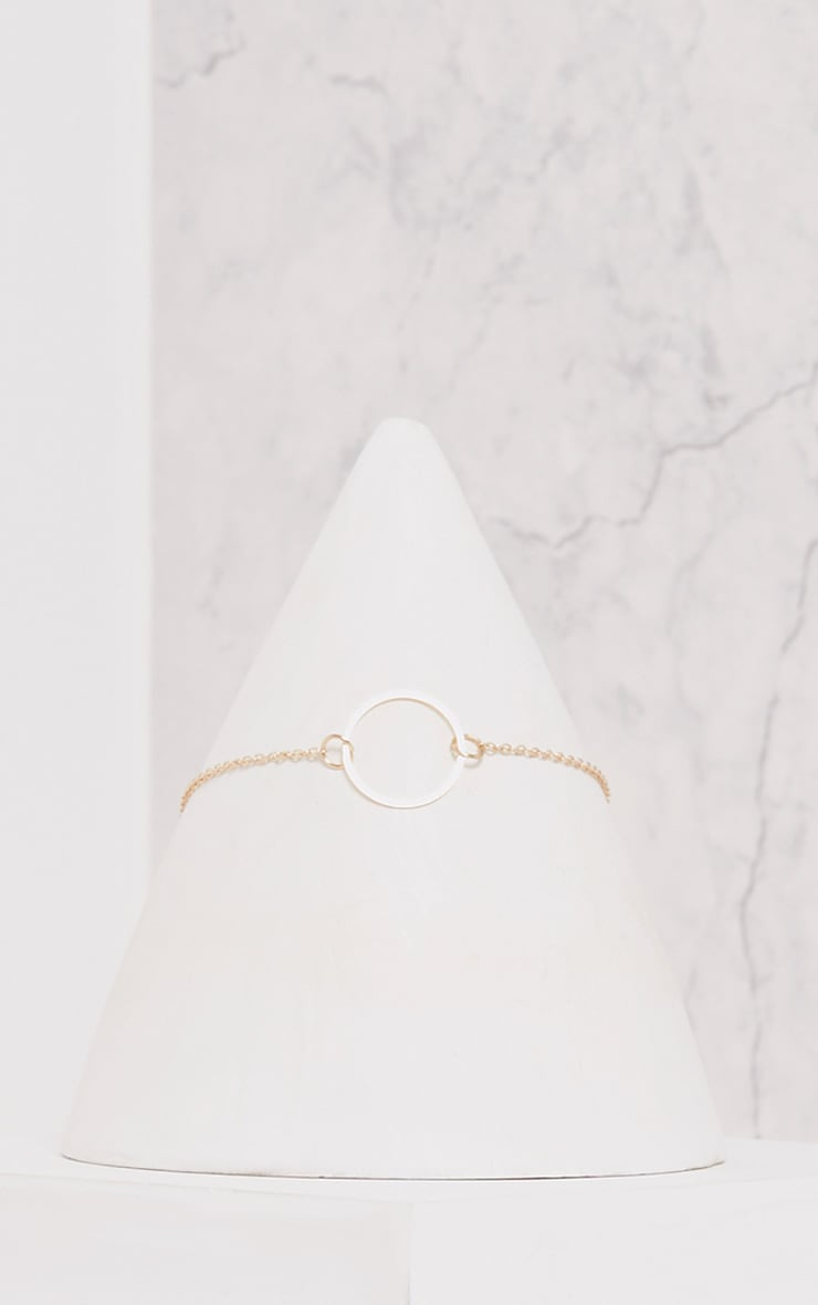 Shivani Gold Delicate Ring Choker 2