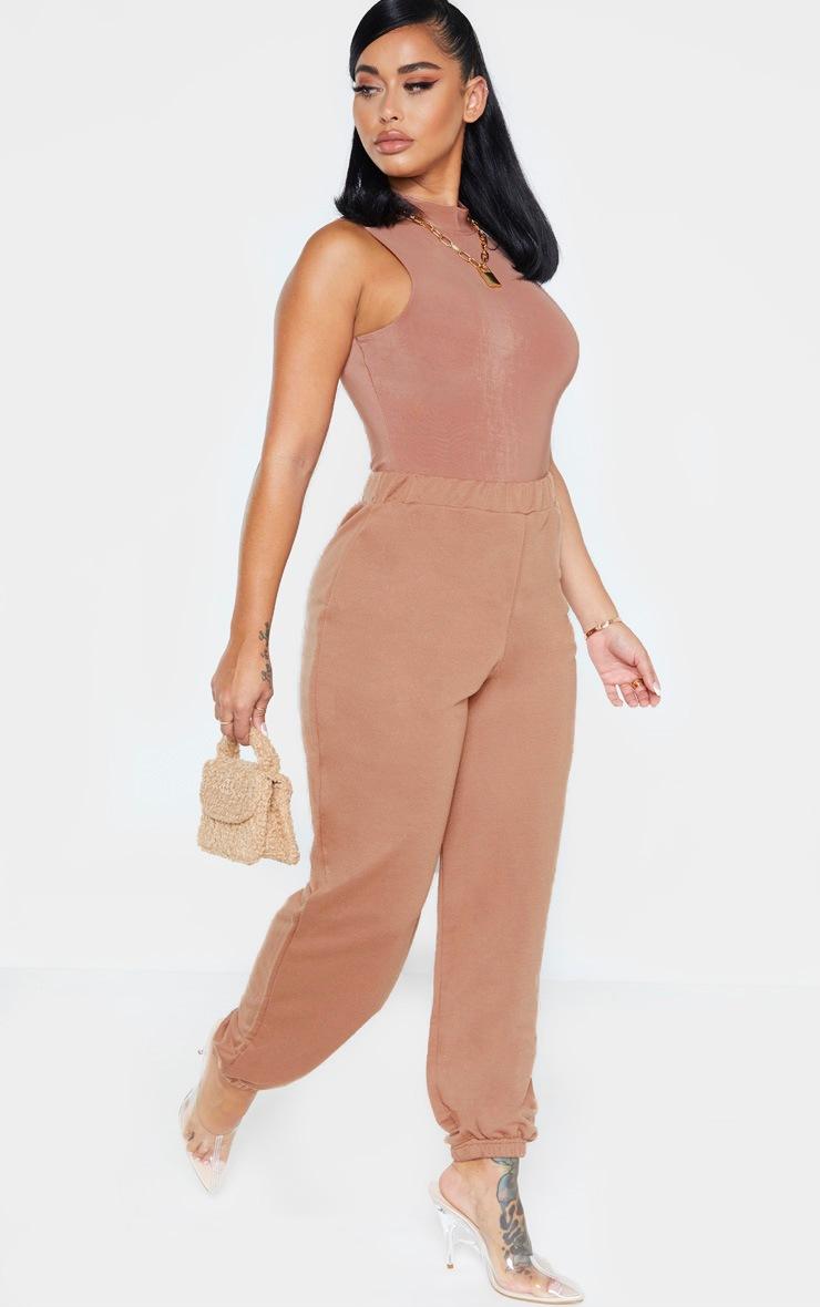Shape Mocha Slinky High Neck Sleeveless Bodysuit 4