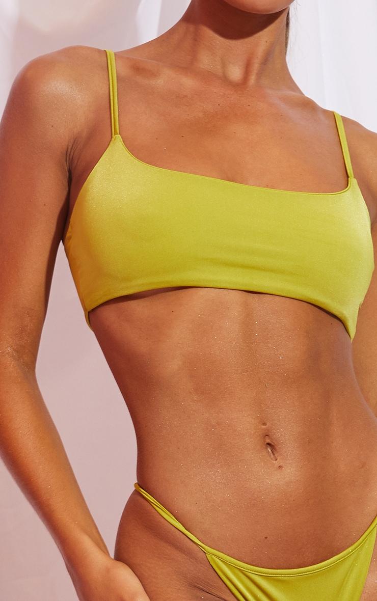 Olive Mix & Match Deep Scoop Bikini Top 4