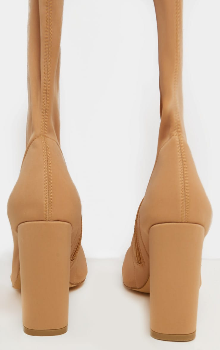 Nude High Point Lycra Thigh High Boot 4